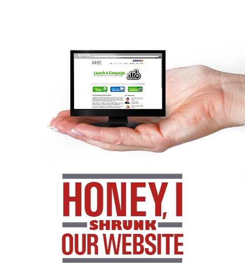 honey i shrunk our website