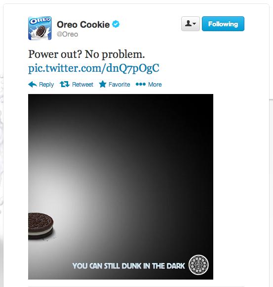 marketing strategy oreo super bowl black out tweet