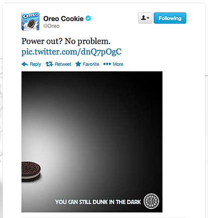 marketing strategy oreo super bowl black out tweet
