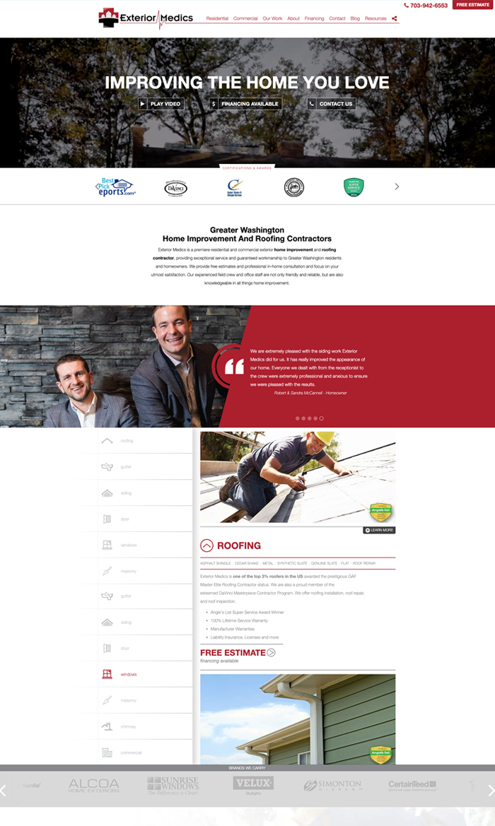 Home Services Website Design & Development | Adhere Creative
