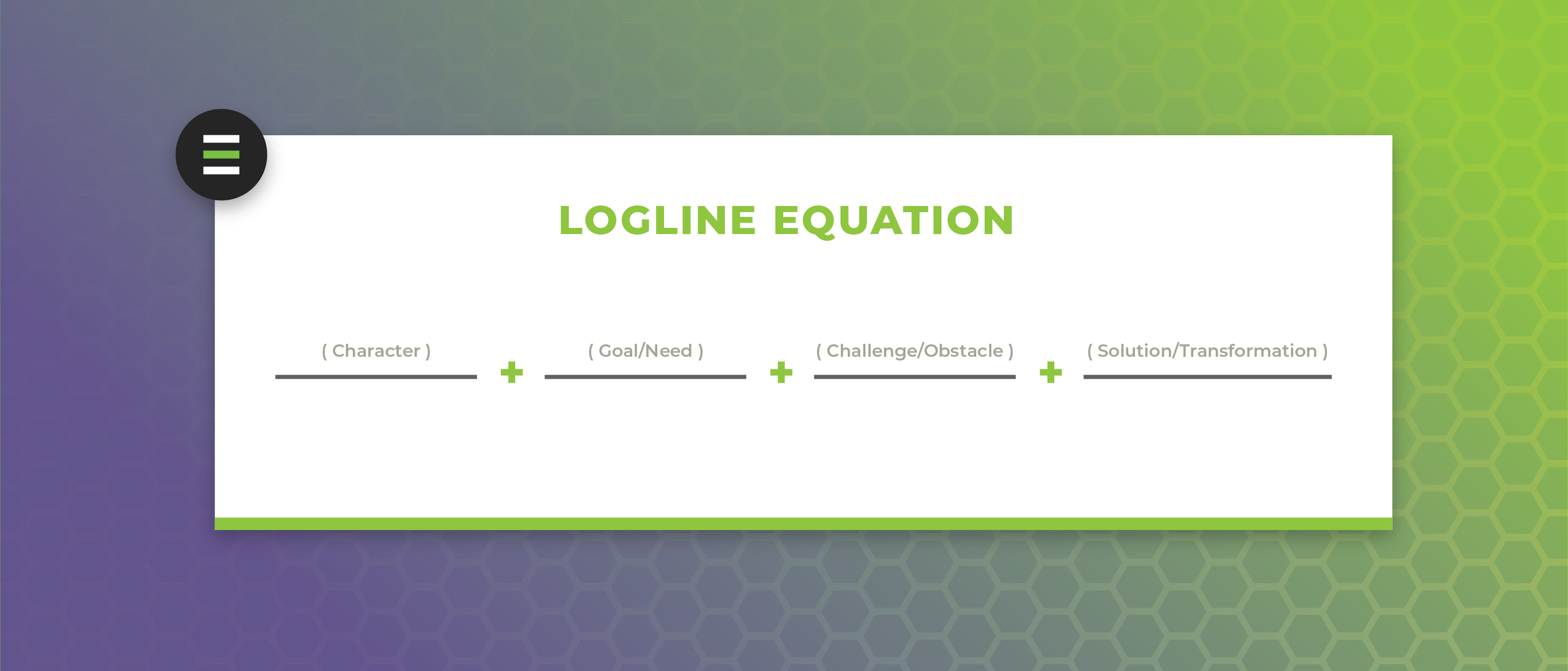 Logline Equation Template