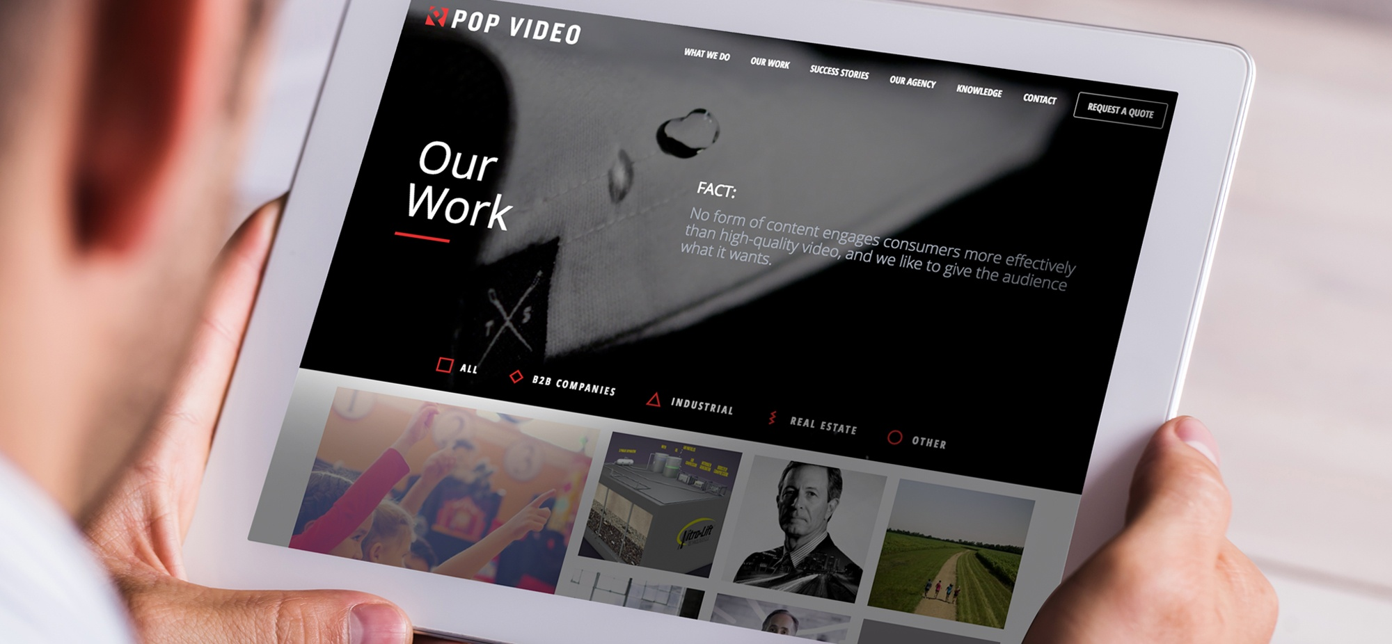 Pop Video Responsive Site